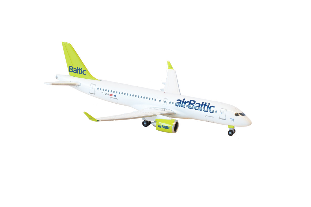 Bombardier CS300 miniature model (now Airbus A220-300)