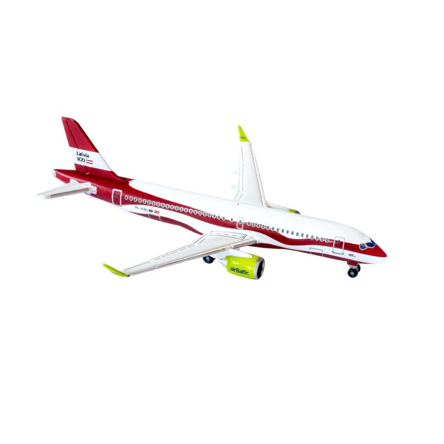 Airbus A220-300 kolekcionāru miniatūrais lidmodelis īpašajā krāsojumā