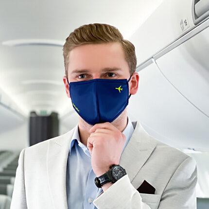 Blue protective face mask, M, reusable
