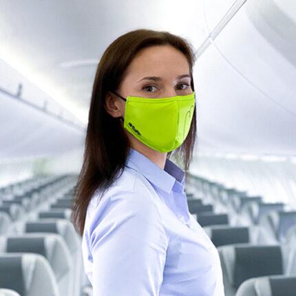 Zaļa aizsargmaska, vairākkārt lietojama