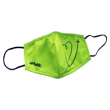 Green protective face mask, reusable