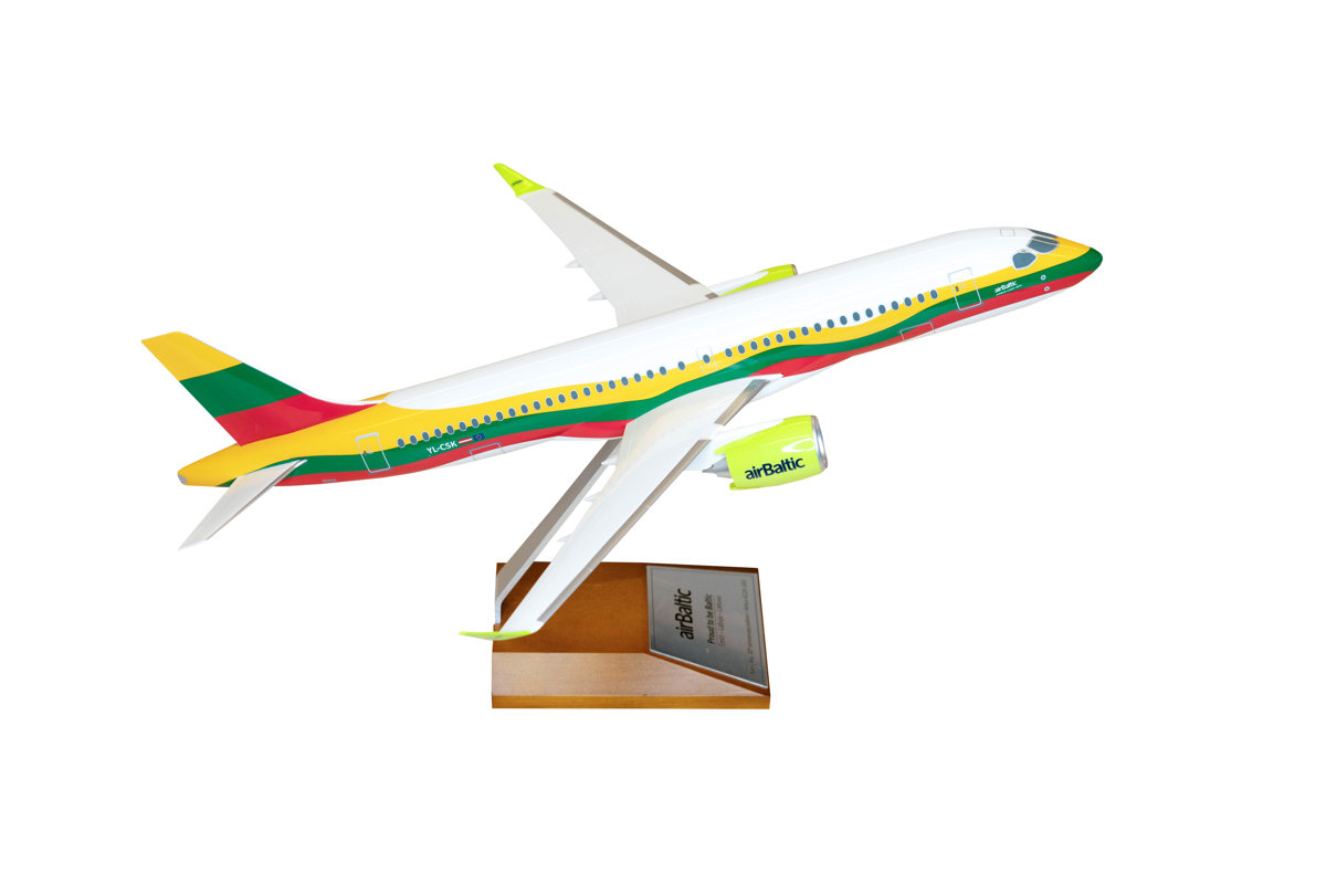 Model with Lithuanian livery Airbus A220-300