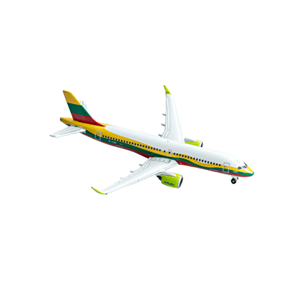 Airbus A220-300 collector's miniature model in Lithuanian livery